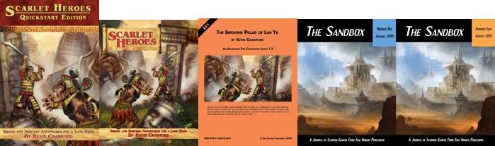 Livres liés au système de JDR Scarlet Heroes
